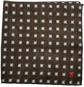 Isaia Pocket Square Brown Geometric 06PS0146 $140