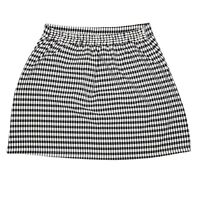 Womens Black and White Gingham Check Mini Skirt With Pockets Size S