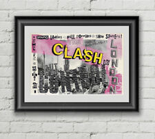 The Clash Concert Poster Canvas Art Print Punk Rock Joe Strummer