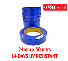 6 x ROLLS- PREMIUM BLUE TAPE 24mm x50m PAINTING PAINTER  MASKING TAPE