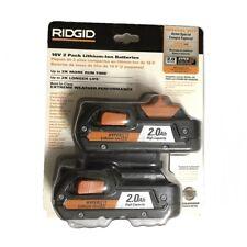 NEW 2PK RIDGID GEN5X X4 18V HYPER LI-ION BATTERY 2.0Ah AC840086P(BATTERIES ONLY)