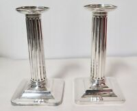 .C 1907 Tiffany & Co Dorique Column Style Sterling Silver Candlesticks #17028