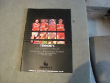 Charity Shield Home Team Manchester United Football Programmes