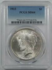 1923 PCGS MS-64 Peace choice uncirculated Silver dollar