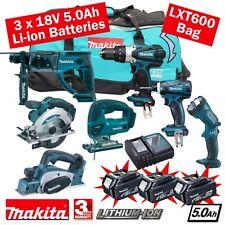 Makita 18 volt cordless 5.0ah li-on 7 piece combo kit mak18vkit18