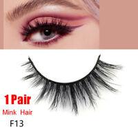 SKONHED 1Pair Luxury 3D Mink False Eyelashes Wispy Cross Long Full Strips Lashes