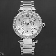 Michael Kors MK5615 Damenuhr Edelstahl Farbe: Silber mit Kristall Besatz