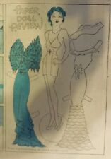 Blondie Sunday by Chic Young from 10/7/1934 Rare Paper Doll Full Page Size !
