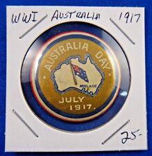 Original Vintage Wwi Ww1 Australia Day 1917 Pin Pinback Button
