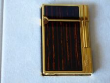 ST Dupont Gatsby Cigar Lighter-Macassar Lacquer Gold Plated Trim-Boxed + Papers