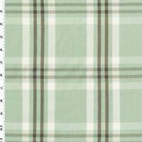 Mint Green/Brown/Multi Cotton Plaid Home Decorating Fabric, Fabric By The Yard