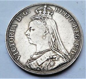 NO RESERVE 1887 Queen Victorian Silver Crown