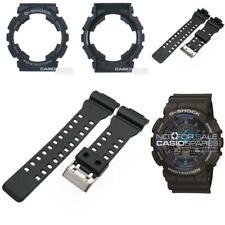 Genuine Casio Watch Band & Bezel f/ G-Shock GA-100-1A2 GA-100 Black Strap Shell