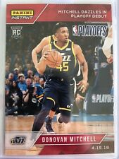 Donovan Mitchell 2017-18 Panini Instant Rookie Jazz Playoff Debut only 137 Made!