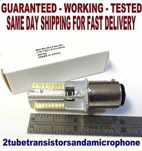 White LED Push In Turn and Lock Sewing Machine Dual Bayonet Light Bulb 120 Volt