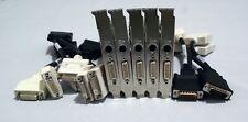 Lot of 5x Radeon ATI 109-B62941-00 PCIe S-Video- DMS59 W/Dual DVI Adapter