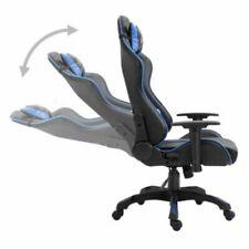Sedia Gaming Nero/blu Ufficio ergonomica, schienale e altezza regolabile, 360°