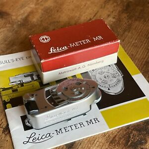 Leica Leitz Leica-Meter MR Meter, Silver - MINT, TESTED/WORKING - US COLLECTOR