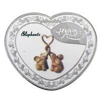 Elephant - Heart Shape - Forever Love Romantic Valentines Commemorative 40mm UNC
