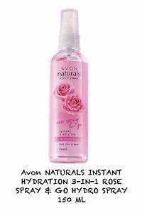 Avon NATURALS INSTANT HYDRATION 3-IN-1 ROSE SPRAY & GO HYDRO SPRAY 150 ML