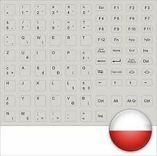 TASTATURAUFKLEBER POLNISCH ALLE TASTEN GRAU KEYSTICK GREY POLAND POLSKA KEYBOARD