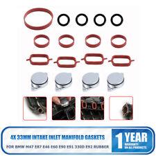 For BMW X5 E70 M57N2 D30 Intake Manifold Gasket Swirl Flap Blank Replacement Kit