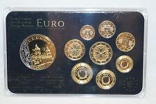 Malta euro 2008 Prestige münzsatz coin set 24 quilates dorado 999 rodio