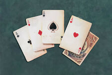 POKER ART PRINT Four of a Kind by Lisa Danielle Gamble Cards Casino Poster 11x14