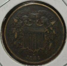 1864 TWO-CENT PIECE, VF/XF  ~  FULL MOTTO, ORIGINAL, NICE!
