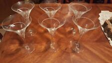 Set of Waterford, Rockford, Crystal 6 Martini Cocktail Glasses