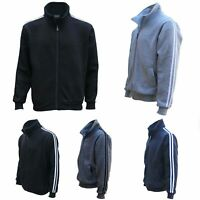 Men's Adult Zip Up Casual Sports Fleece Sweat Shirt Jumper Jacket Hoodie Sweater