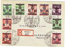 KRAKAU-HITLER-NAZI-ALLEMAGNE-CROIX GAMMÉE-GEBORTSTAS DES FUHRERS-20 AVRIL 1940