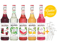 11,43€/l MONIN-SET Cocktail+5 Pumpen gratis 5 x 0,7 Liter
