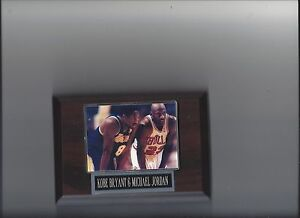 KOBE BRYANT & MICHAEL JORDAN PLAQUE LOS ANGELES LAKERS LA  BULLS BASKETBALL NBA