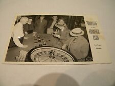 Vintage Real Photo Postcard:Roulette At The Frontier Club Las Vegas Nevada