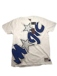 NWT Mitchell And Ness NBA Magic Big Face T Shirt Mens Size XL