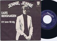 LARS BERGHAGEN Jennie Jennie Norwegian 45PS 1975 Eurovision