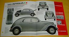 1937 Lancia Aprilia 1352cc V4 One Zenith Carburetor IMP Info/Specs/photo 15x9