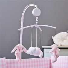 White Set Baby Crib Mobile Bed Bell Toy Holder Arm Bracket + Wind-up Music Box J