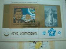 SPACE kosmos 200 J. USA-Edition GOLD Block COMOREN Golddruck KENNEDY MONDLANDUNG