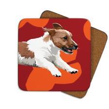 Leslie Gerry LGCOA036 Single Coaster Jack Russell Dog
