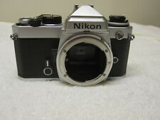 NIKON FE 35mm SLR Film Camera Black & Silver Body Only **Near-Mint**
