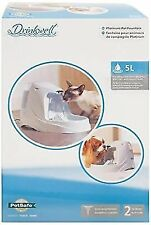 PetSafe Drinkwell Platinum Pet Water Fountain 5l Cat Dog 3pack Filters