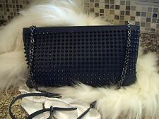 Authentic CHRISTIAN LOUBOUTIN 'Loubiposh' Spiked Calfskin Shoulder Bag $1,250.00