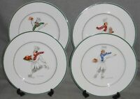 Set (4) Guy Buffet SKATING CHEFS SERIES PATTERN Dinner Plates GERMANY