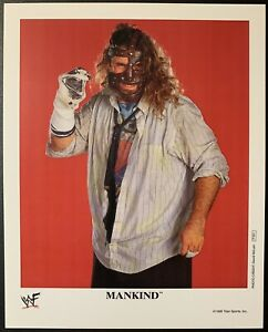 MANKIND WWE P-501 OFFICIAL LICENSED AUTHENTIC ORIGINAL 8X10 PROMO PHOTO Socko
