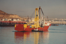 HEAVY LIFTER Ship FOUND PHOTO FREE Shipping PORT PHOTOGRAGHY Color M 82 20