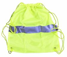 High Visibility Sports Bag 3M Scotchlite Material Sack Hi-Vis Viz Gym Cycling