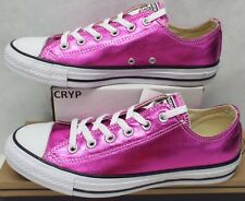 New Womens 9 Converse CTAS OX Metallic Magenta Low Textile SHoes $60 155561F