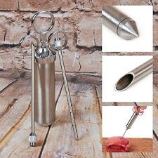 Steel 2 Ounce Seasoning Flavor Injector Syringe Marinade Needle Meat BBQ Turkey
